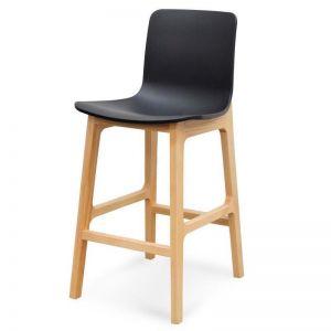 Harris Bar stool | Black & Natural | 65cm