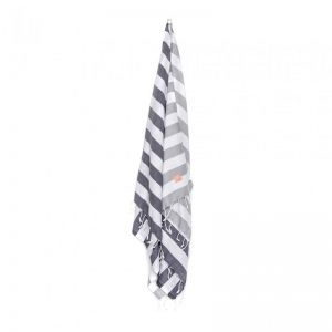 HAV Bath & Beach Towel | Grey & White