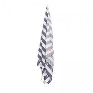 HAV Bath & Beach Towel | Grey & White