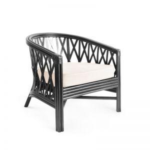 Havana Rattan Tub Chair | Black | by Black Mango