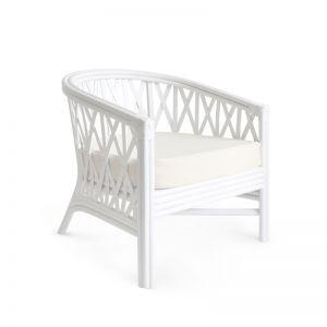 Havana Rattan Tub Chair   White   by Black Mango