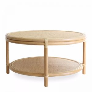 Havana Round Rattan Coffee Table Large | by Black Mango