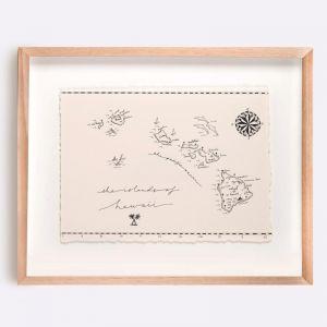 Hawaii Map Illustration | Print by Adrianne Design