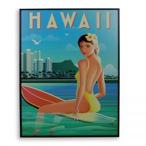 Hawaii Vintage | 60x80cm | Outdoor UV Wall Art | Aluminium Frame