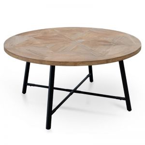Hayes 1.5m Recycled Elm Wood Round Dining Table | Interior Secrets