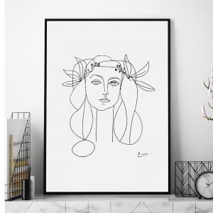 Head of a Woman by Pablo Picasso | Unframed Art Print