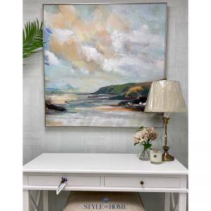 'Headland Vista' Canvas in Natural Frame