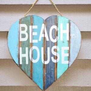Heart Beach House Sign
