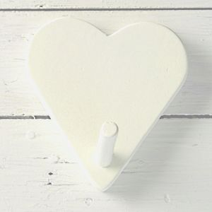 Heart Shaped White Timber Hook