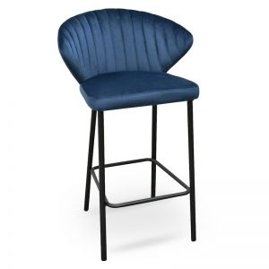 Heidi Bar Stool | 65cm | Navy Blue