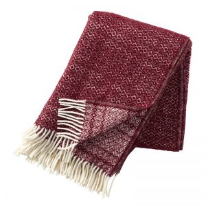 Hekla Wool Blanket | Bordeaux