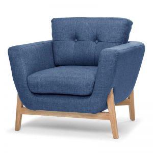 Helgrim Fabric Armchair | Navy Blue
