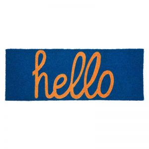 Hello | PVC Backed Doormat | 45x120 CM | Fab Habitat