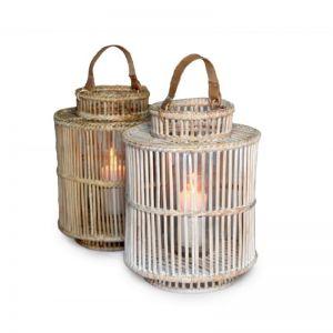 Hemingway Medium Lantern | White