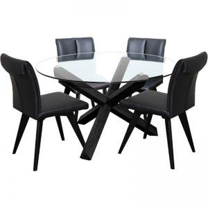 Hendriks Leather Chair | Black | Bohemio Furniture