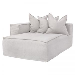 Hendrix Modular Sofa | Long Section | Left Hand Arm | Sand | by Uniqwa Furniture