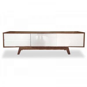 Hendrix Scandinavian TV Entertainment Unit - Lowline | Walnut | Interior Secrets