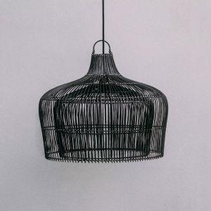 Henley Rattan Pendant | Black