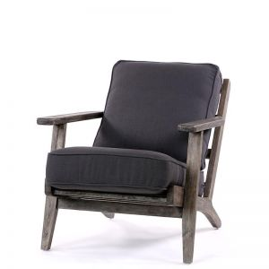 Henry Plank Arm Chair | Charcoal | by Black Mango