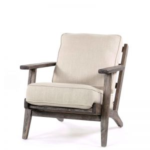 Henry Plank Arm Chair | Latte | by Black Mango