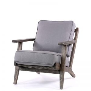 Henry Plank Arm Chair | Wolf Grey | by Black Mango