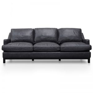 Hensley 3 Seater Sofa | Charcoal Leather