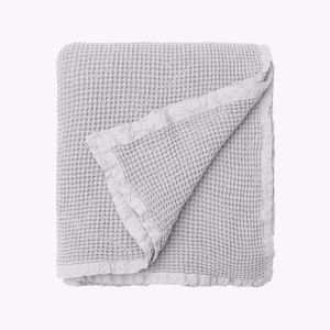 Hepburn Waffle Blanket   Silver   Small