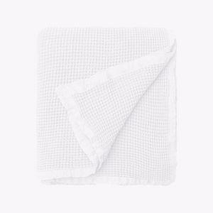 Hepburn Waffle Blanket | White | Small
