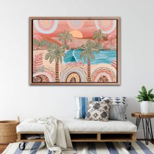 Here Comes The Sun | Canvas Print by Aurora Art
