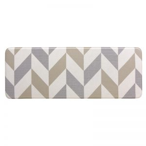 Herringbone Gainsboro | 120x44 CM | Anti Fatigue Mat | Kitchen, Laundry & Bathroom Mat | Double Side