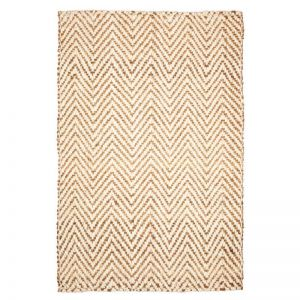 Herringbone Jute Rug | Fab Habitat | Various Sizes