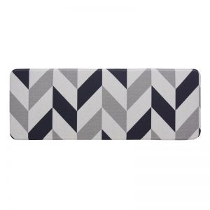 Herringbone Navy | Anti Fatigue, Kitchen, Laundry & Bathroom Mats | Double Sided | Fab Habitat