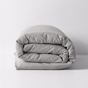 Herringbone Quilt Cover | Dove