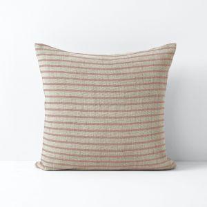 Herringbone Stripe Cushion | Rosewater | By Aura Home