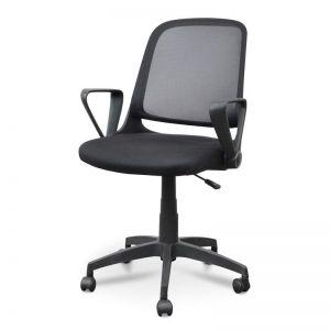 Heston Fabric Office Chair   Full Black