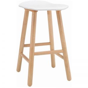 Hetty Counter Stool | Lacquered White Top