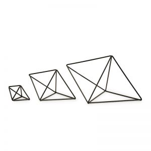 Hex | Hexahedron | Set of 3 | by Bendo | Black