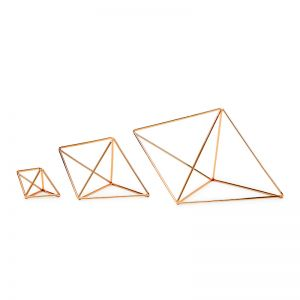 Hex | Hexahedron | Set of 3 | by Bendo | Copper