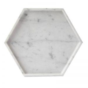 Hexagon Tray in Carrara Marble | Behr & Co