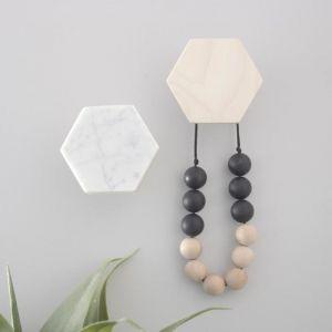 Hexagon Wall Hook | Marble