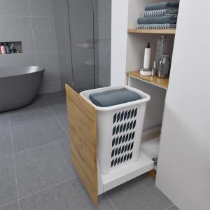 Hideaway Laundry Hamper | Soft Close | 1x60 Ltr