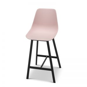 High Back Barstool | Hanns Blush Pastel Pink 67cm | Set of 2