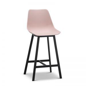 High Back Barstool | Hanns Blush Pastel Pink 67cm | Set of 2