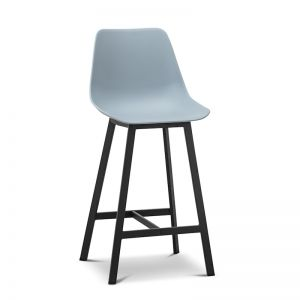 High Back Barstool | Hanns Sky Pastel Blue 67cm | Set of 2