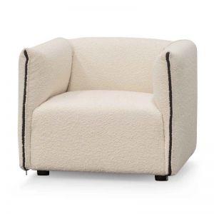 Hinton Armchair   Ivory White Boucle