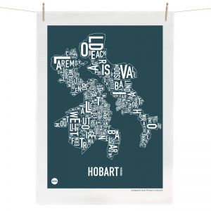 Hobart Map | Tea Towel by Burbia