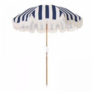 Holiday Beach Umbrella-Navy Stripe