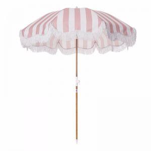 Holiday Beach Umbrella-Pink Stripe