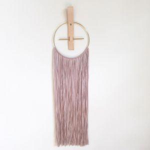 Honey Honey Creations Yarn Wall Hanging - Dusty Blush