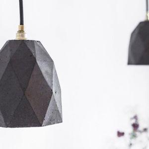 Honeycomb Concrete Pendant Light | Black